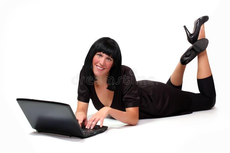 Portrait eines attraktiven Geschäftsmädchens stockbild