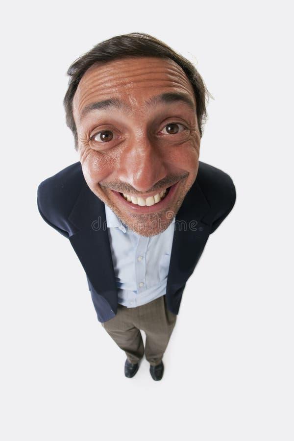 Portrait eines dummen Mannes stockfotografie