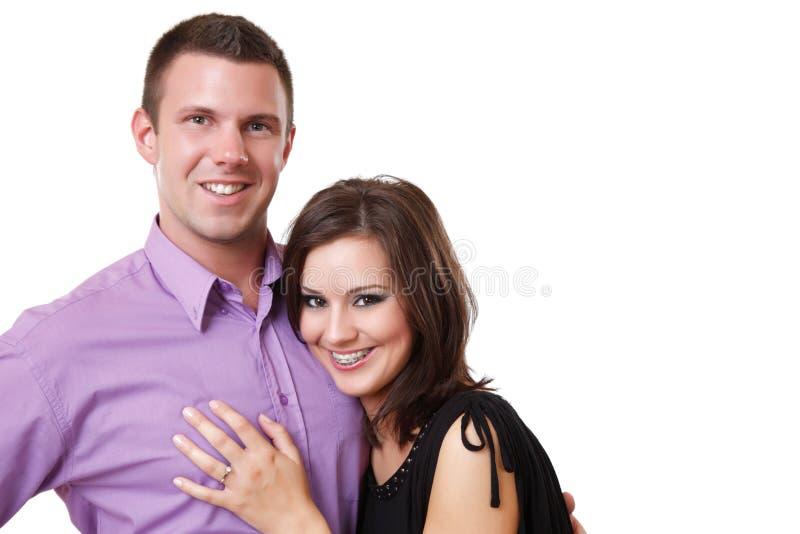 Portrait eines eleganten Paares lizenzfreie stockfotografie