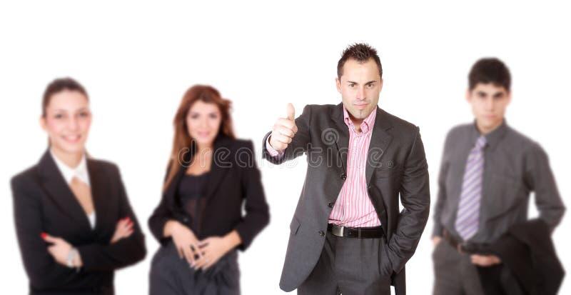 Portrait eines erfolgreichen Geschäftsteams lizenzfreie stockfotos