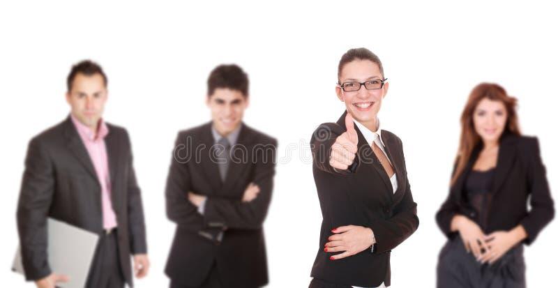 Portrait eines erfolgreichen Geschäftsteams stockfotos