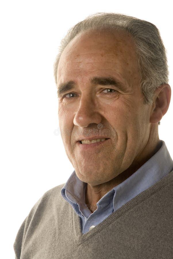 Portrait eines fälligen Mannes stockfotos