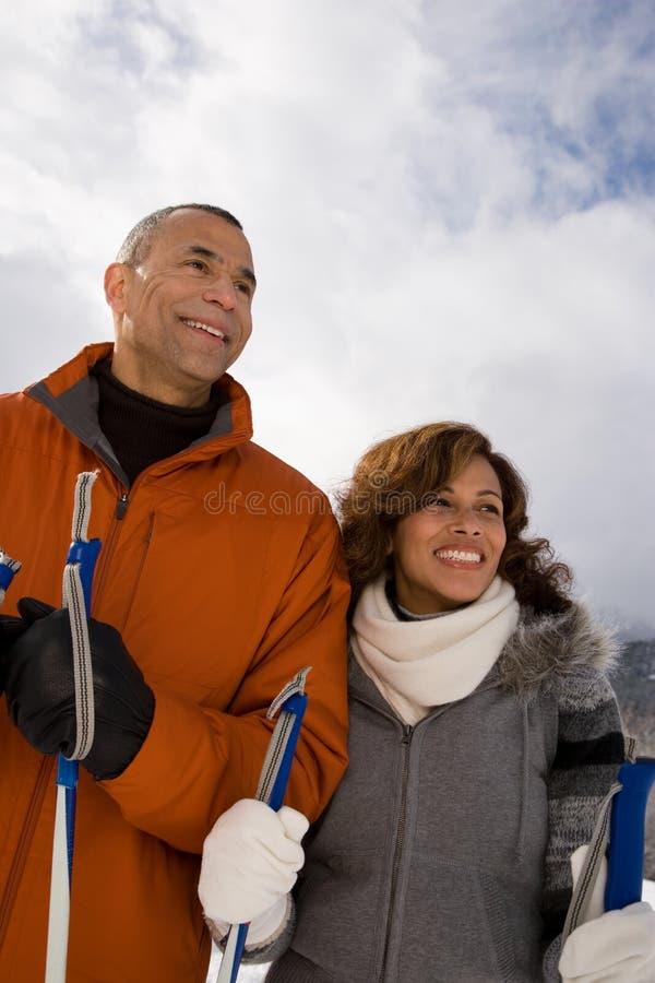 Portrait eines fälligen Paares stockfotografie