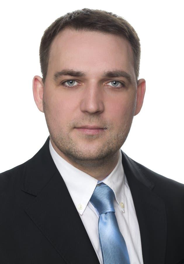 Portrait eines freundlichen Geschäftsmannes stockfoto