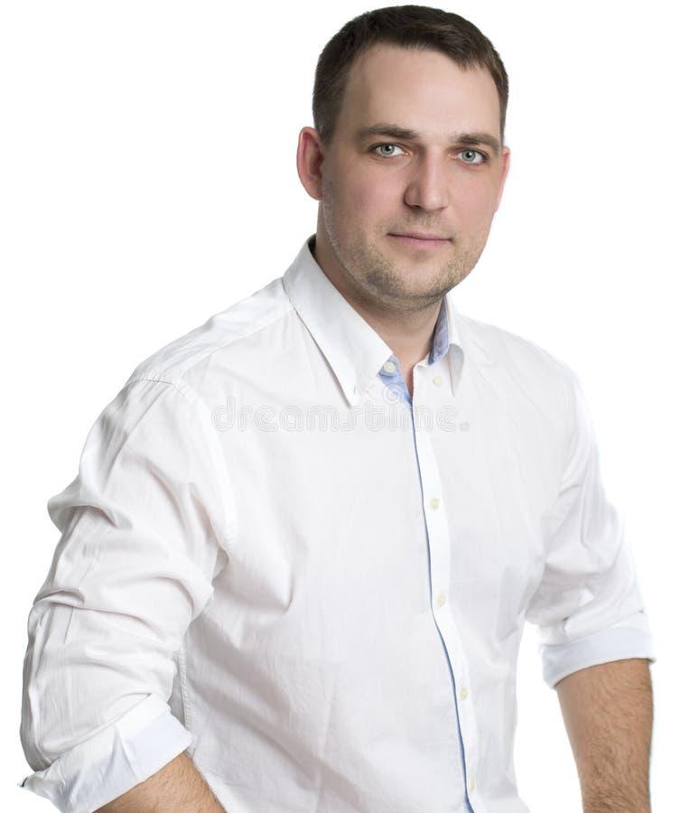 Portrait eines freundlichen Geschäftsmannes stockbilder