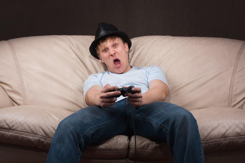 Portrait eines gamer stockbild