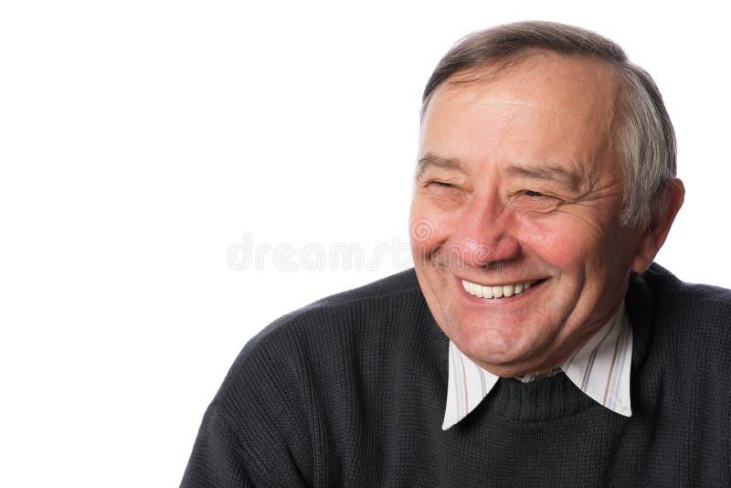 Portrait eines glücklichen älteren Mannes lizenzfreies stockbild