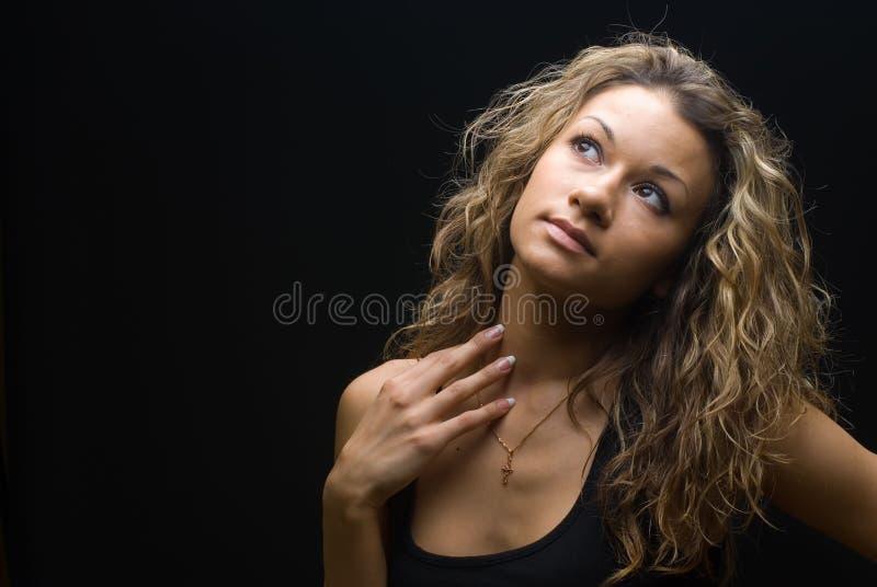 Portrait eines herrlichen Mädchens lizenzfreies stockbild