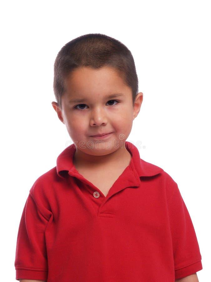 Portrait eines hispanischen Jungen lizenzfreie stockfotos