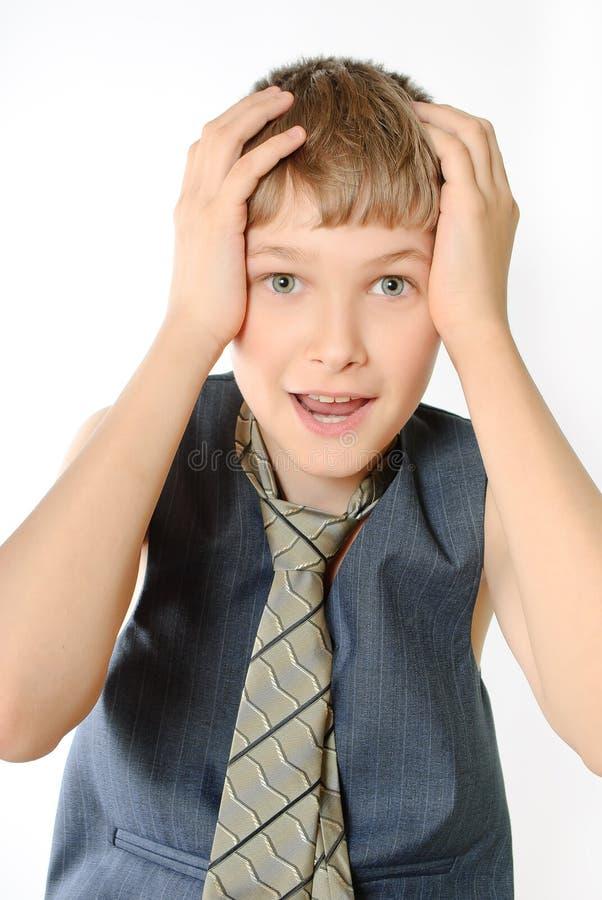 Portrait eines Jugendlichen lizenzfreie stockfotos