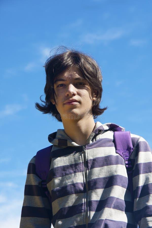 Portrait eines Jungen stockfotografie