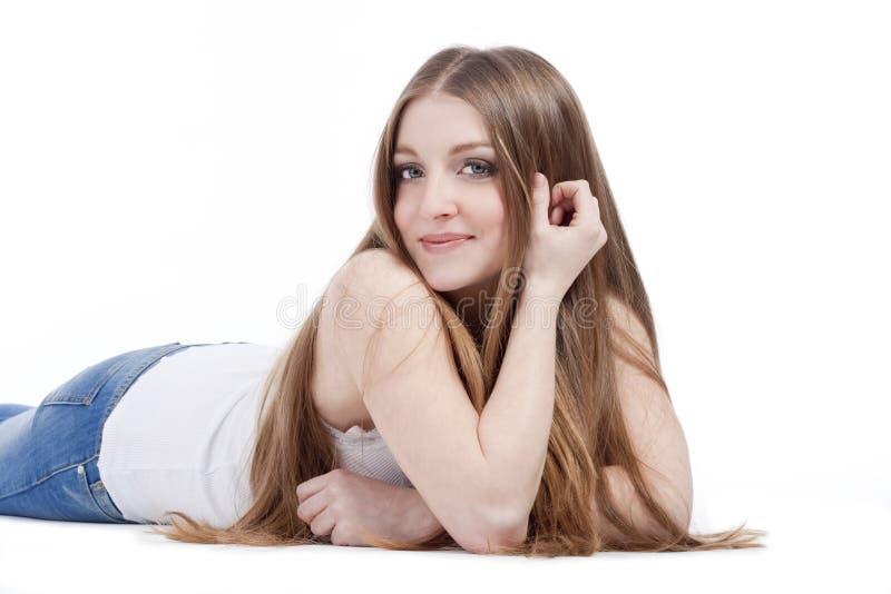 Portrait eines jungen Mädchens stockfotos