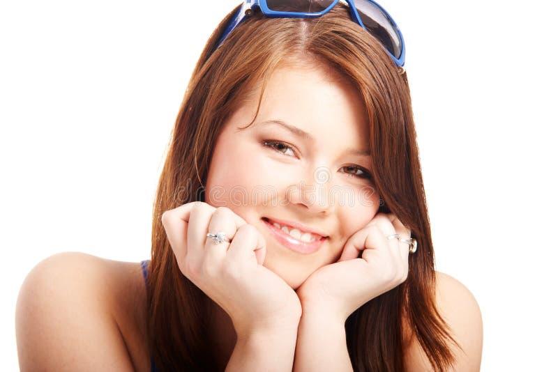 Portrait eines jungen netten Mädchens stockbild