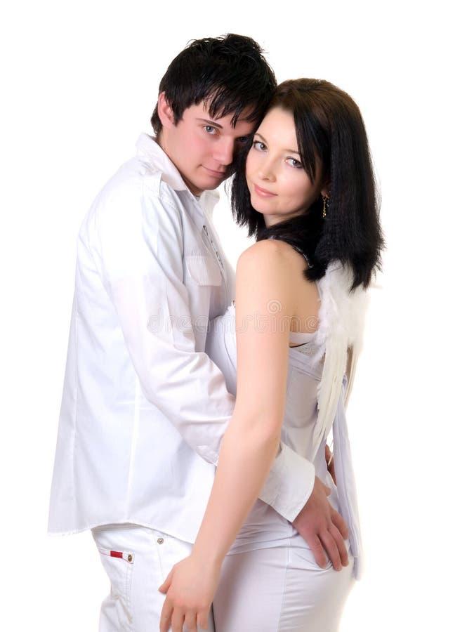 Portrait eines jungen stattlichen Paares. lizenzfreie stockfotos
