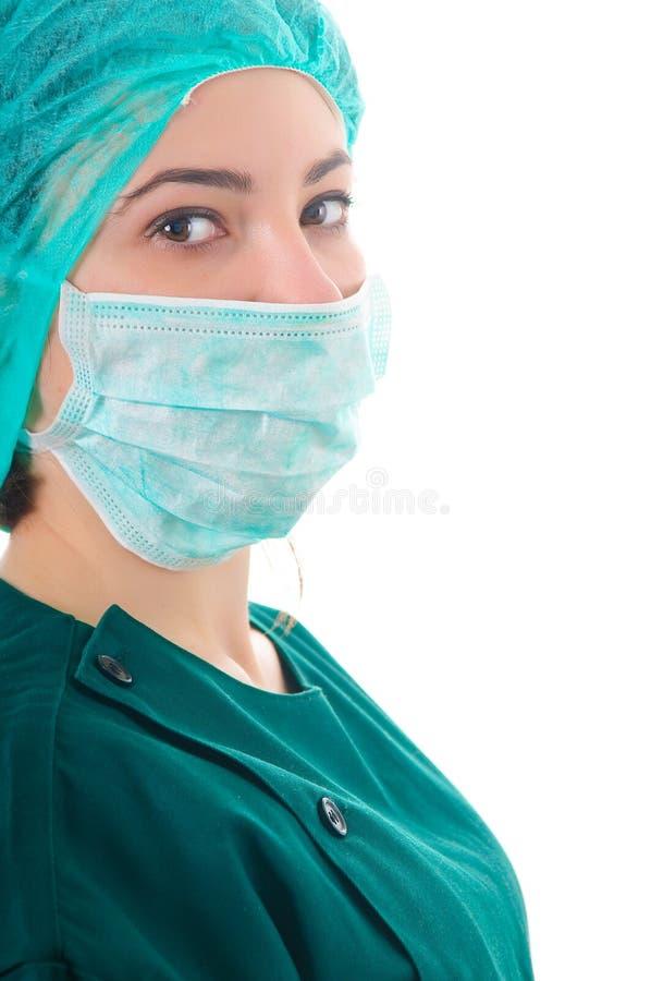 Portrait eines jungen weiblichen Doktors stockfotografie
