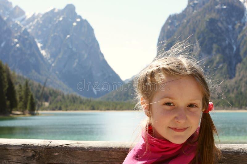 Portrait eines Kindmädchens stockbild