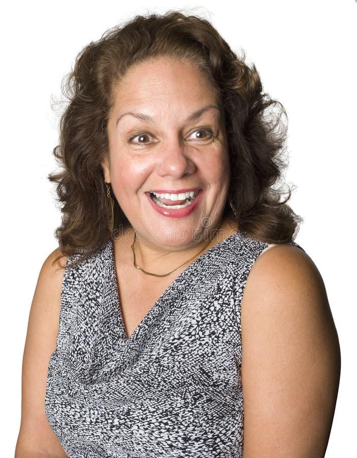 Portrait eines Latinofrauenlächelns stockbild