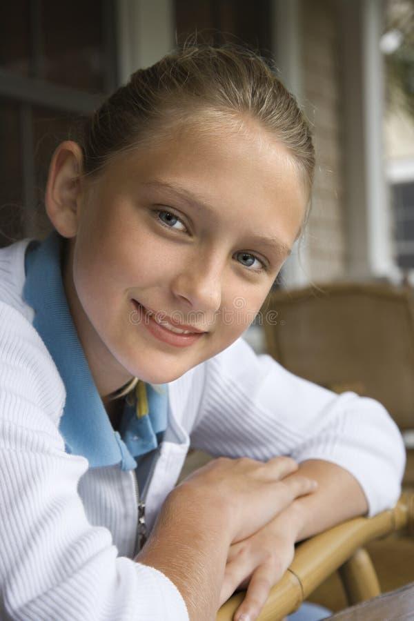 Portrait eines Mädchens. lizenzfreies stockfoto