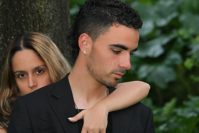 Portrait eines Paares lizenzfreie stockfotografie