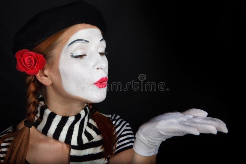 Portrait eines Pantomimemädchens lizenzfreie stockfotografie