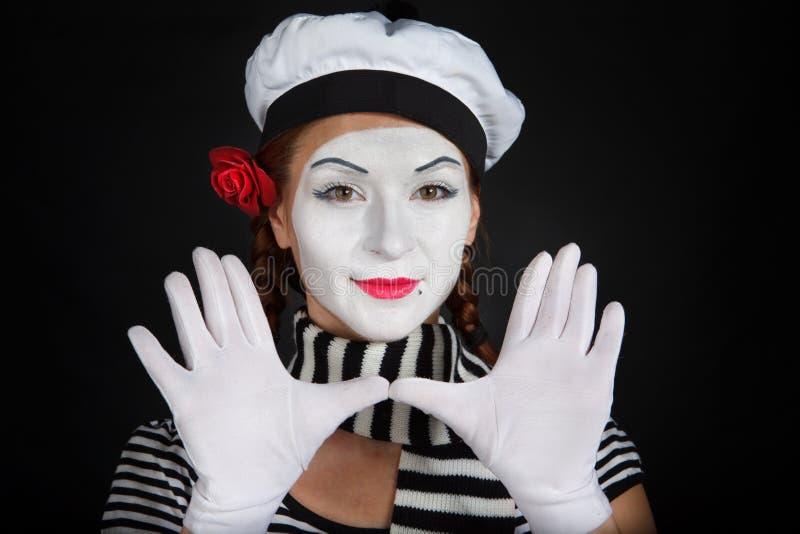 Portrait eines Pantomimen lizenzfreies stockbild