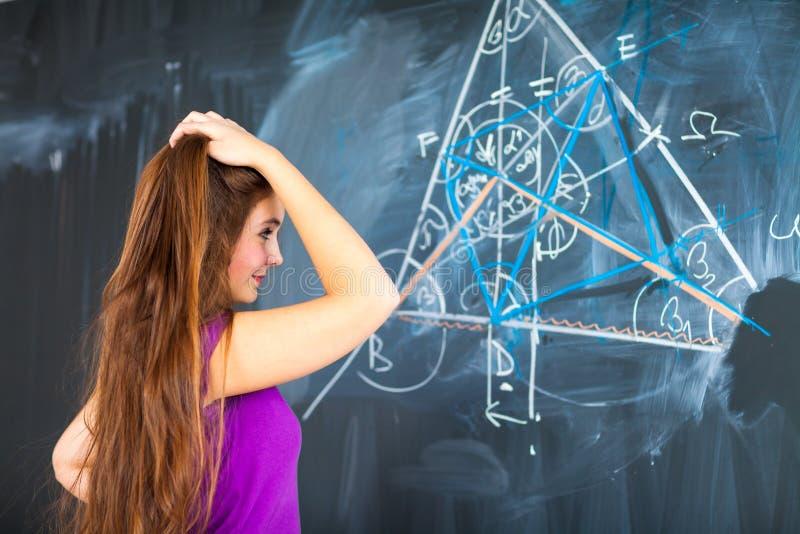 Portrait eines recht jungen Studenten lizenzfreies stockfoto
