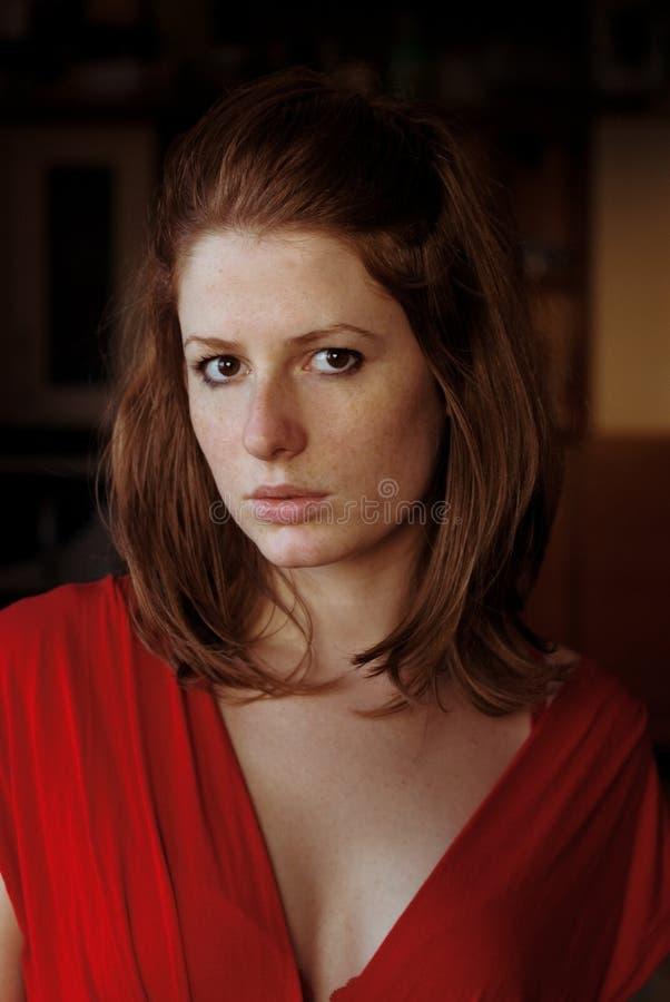 Portrait eines redhair Mädchens lizenzfreies stockbild
