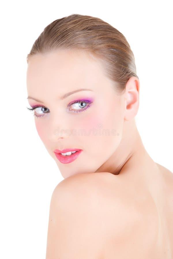 Portrait eines schönen jungen Mädchens lizenzfreie stockfotos