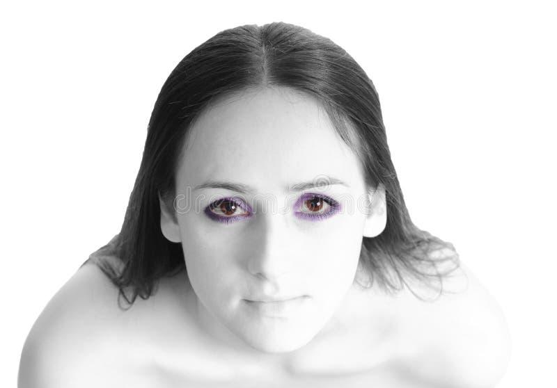 Portrait eines schönen Mädchens stockfotos