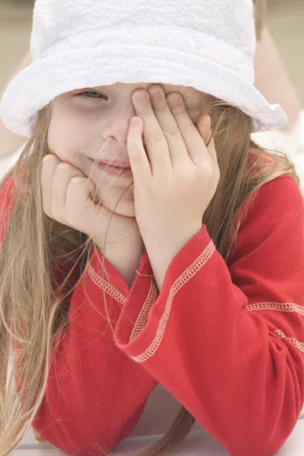 Portrait eines schönen Mädchens in Hut II
