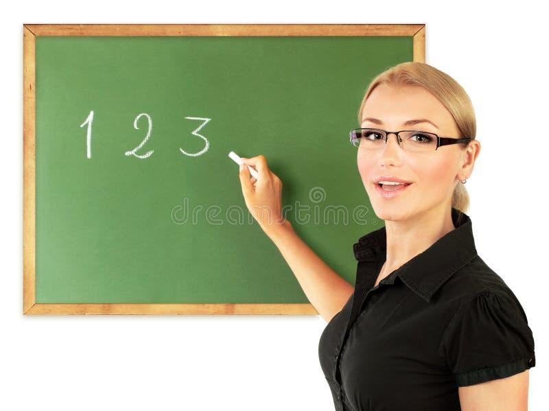 Portrait eines Schullehrers stockbild