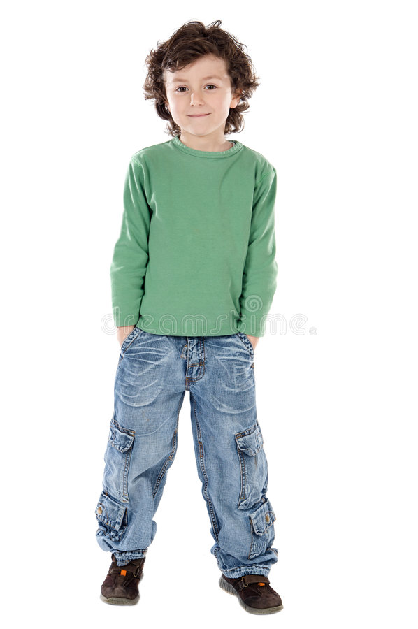 Portrait eines stattlichen Jungen stockbilder