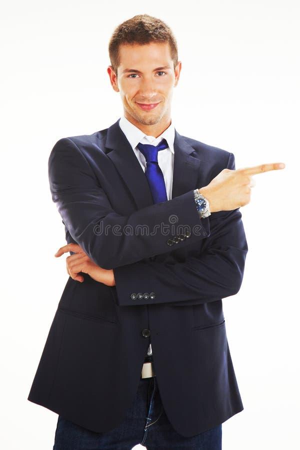 Portrait eines stattlichen jungen Geschäftsmannes stockbilder
