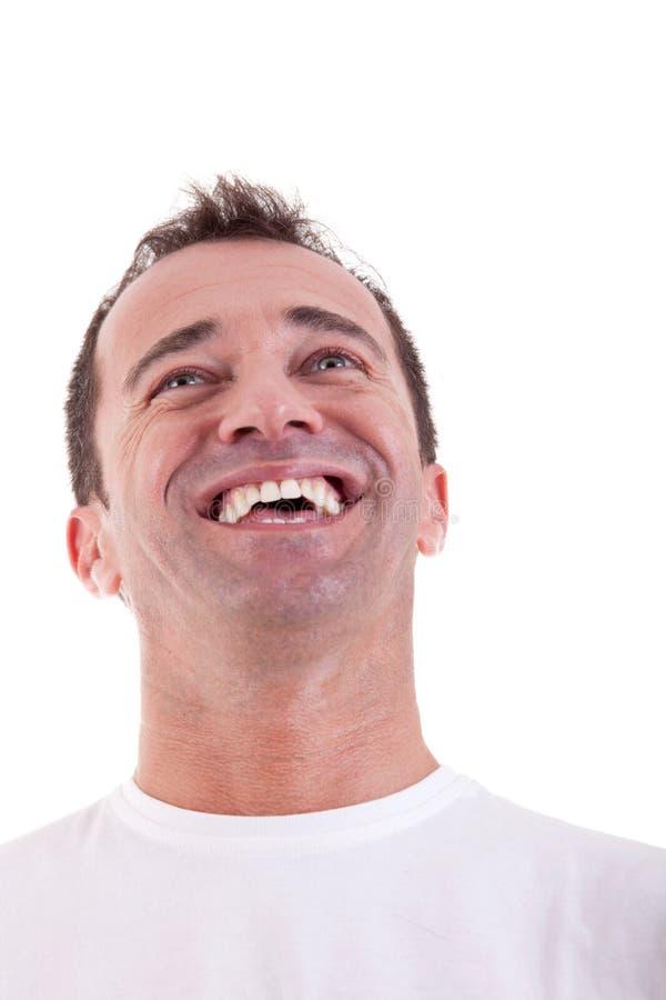 Portrait eines stattlichen Mittleralter Mannes glücklich stockbilder