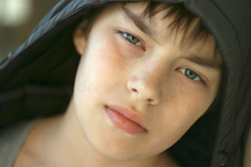 Portrait eines Teenagers stockbild