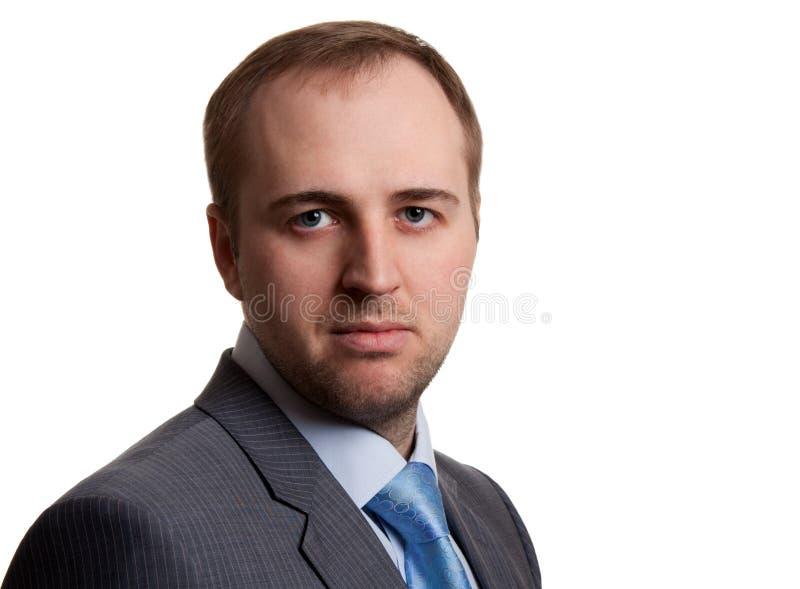 Portrait eines unshaven Geschäftsmannes lizenzfreies stockbild