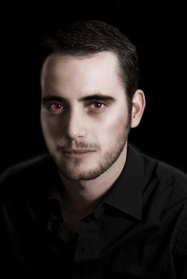 Portrait eines Vampirs stockfotos
