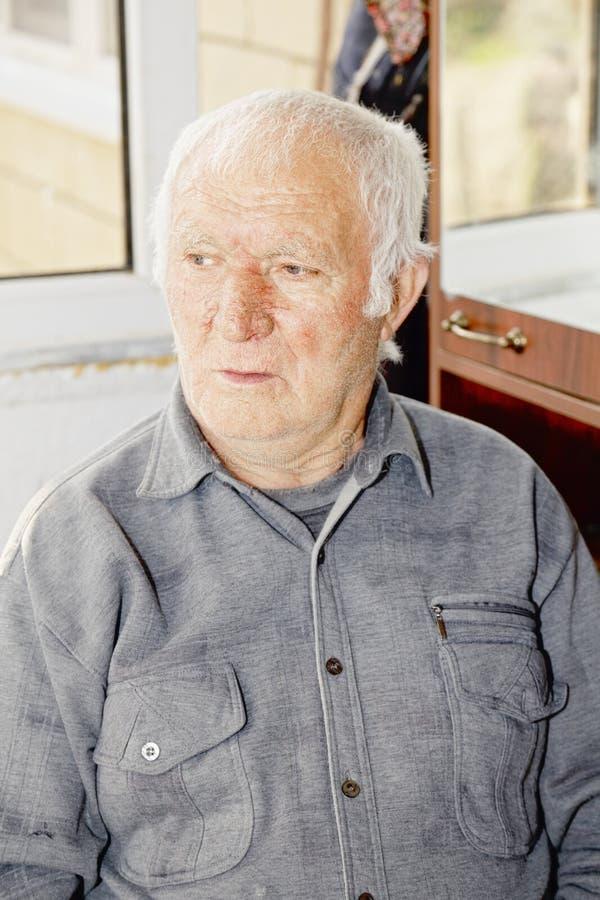 Download Portrait Of Elderly Hoary Man Stock Photo - Image: 28733610