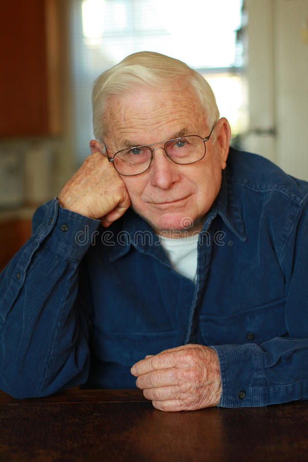 Portrait Of Elderly Man Royalty Free Stock Photos