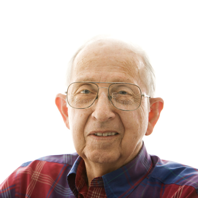 Portrait of elderly man. royalty free stock image