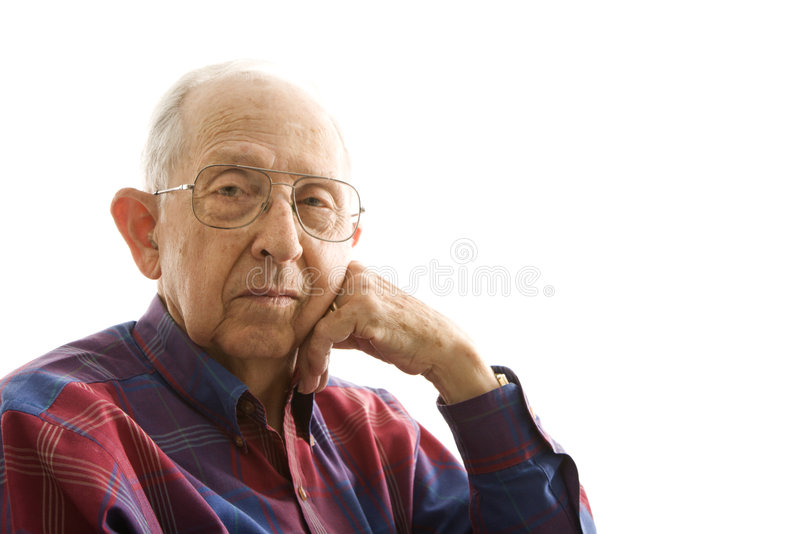 Portrait of elderly man. stock image