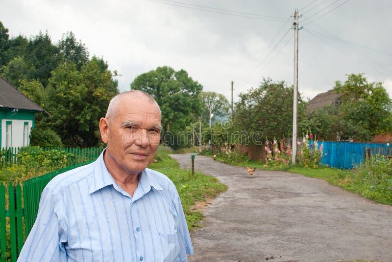 Portrait of elderly man stock photos