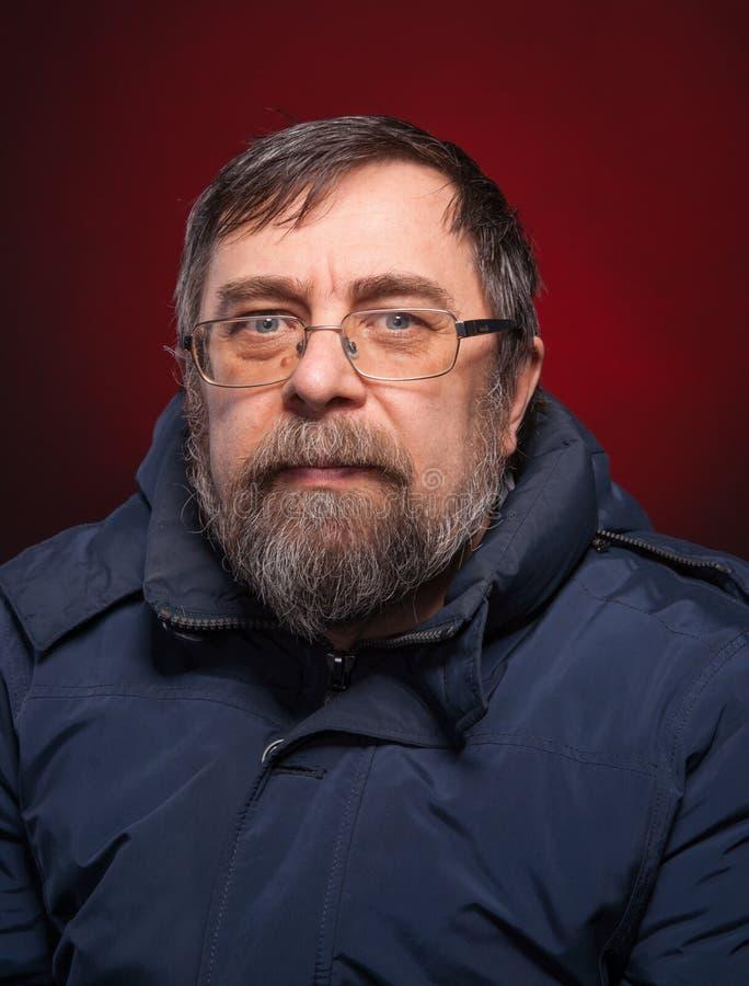 Download Portrait Of Elderly Man In Glasses Stock Photo - Image: 29440404
