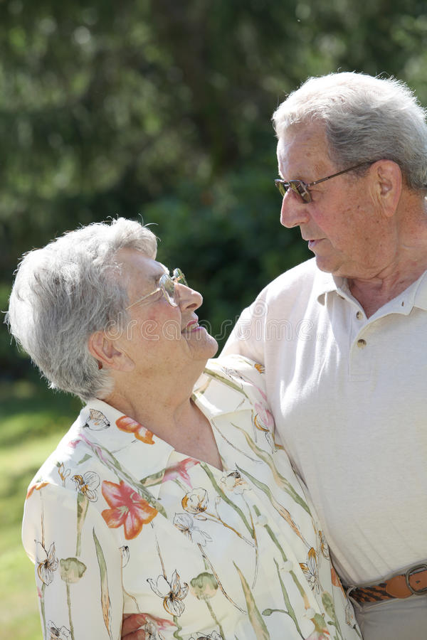 POrtrait of elderly people in love royalty free stock images