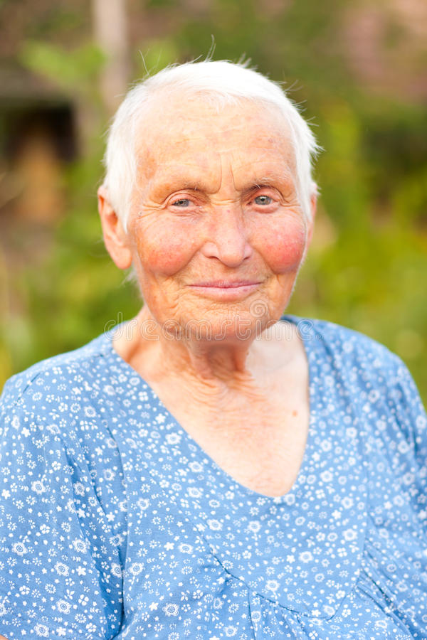 Download Portrait Of An Elderly Woman Stock Photo - Image: 25959738