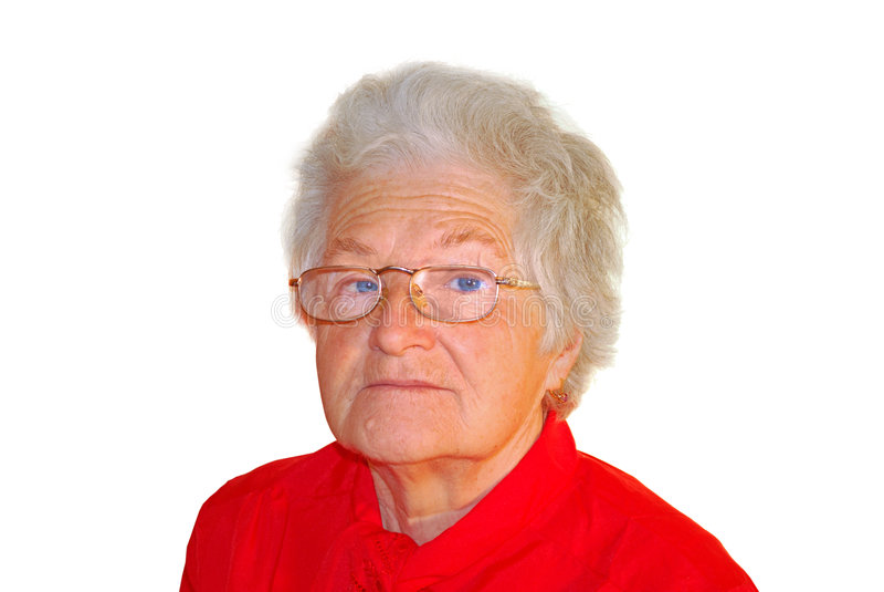 A portrait of elderly woman stock photos