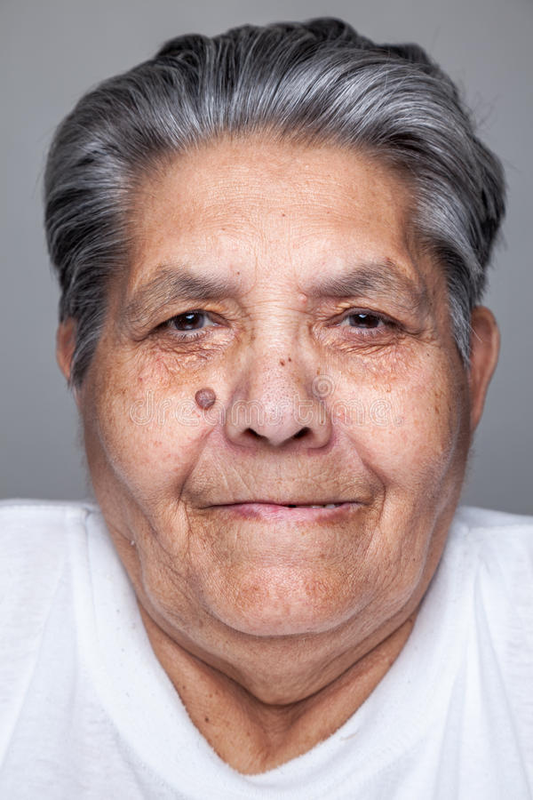 Portrait of an elderly woman royalty free stock images