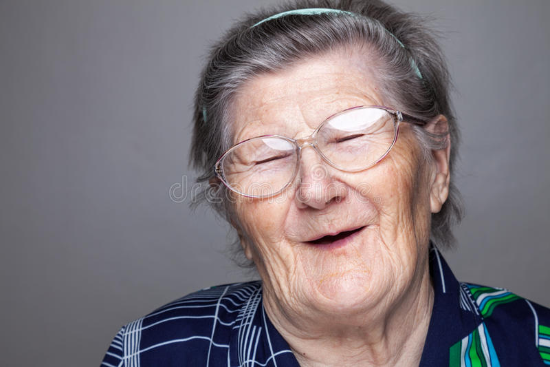 Portrait of an elderly woman stock image