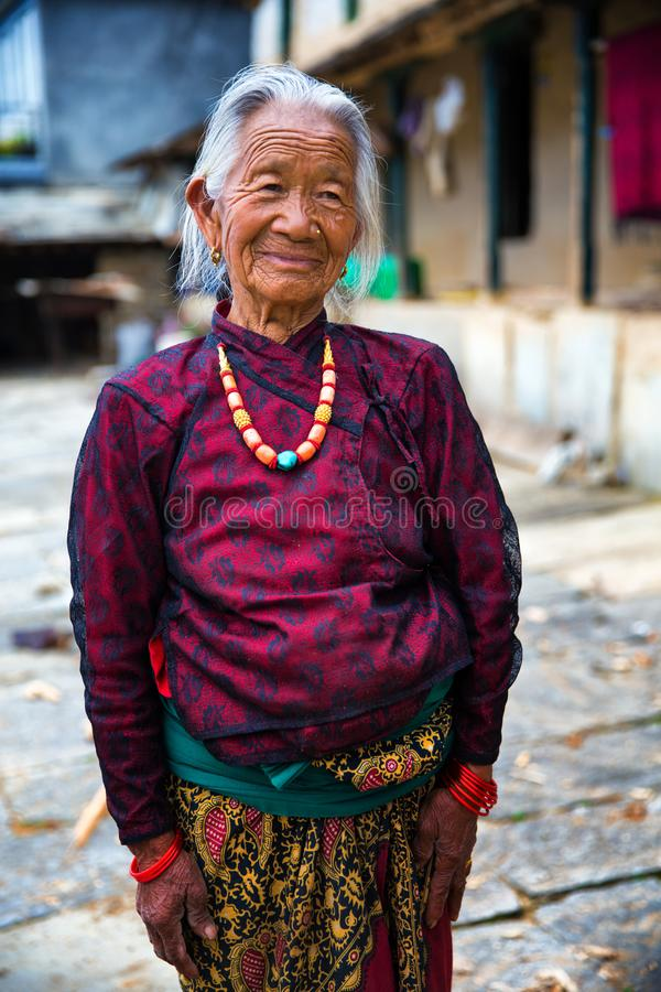 Portrait old woman royalty free stock photos