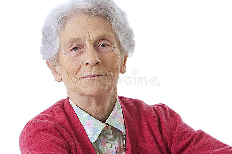 Download Portrait Of An Elderly Woman Stock Image - Image: 34443945
